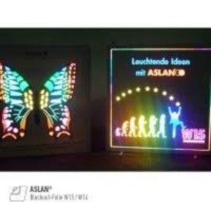 ASLAN® Blockout-Foil W16 zwart, plakzijde wit 125 cm verduisterend
