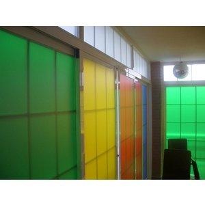 Gekleurde folie Etch effect 125 cm Aslan EC 55  Translucent
