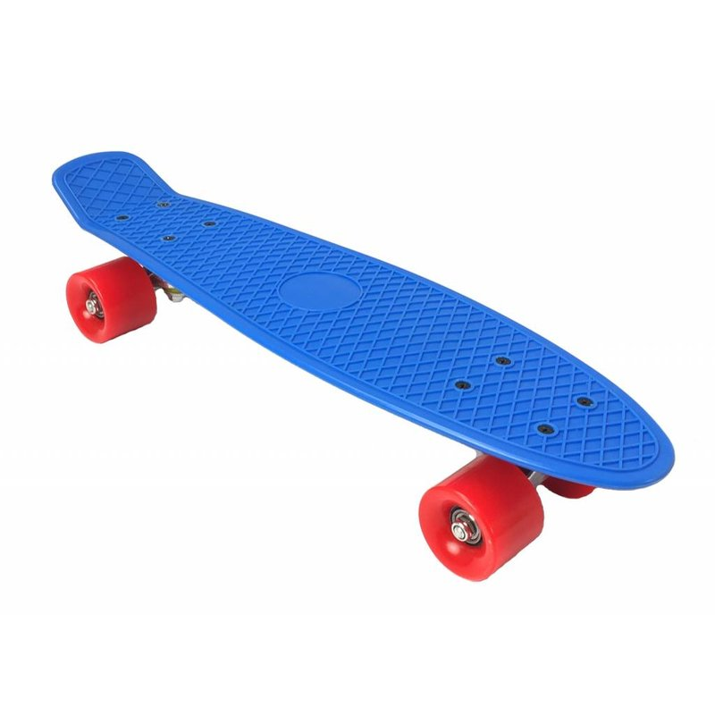 2Cycle Skateboard Blauw-Rood 22,5 inch (3105)