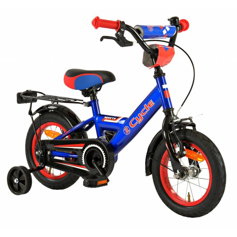 2Cycle Jongensfiets 12 inch Sports Blauw (1225)