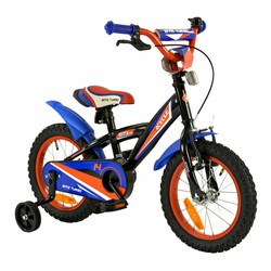 2Cycle Jongensfiets 14 inch BMX blauw-rood