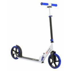 2Cycle Step Aluminium Blauw-Wit Met Grote Wielen
