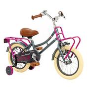 2Cycle Meisjesfiets 14 inch Grijs-Roze