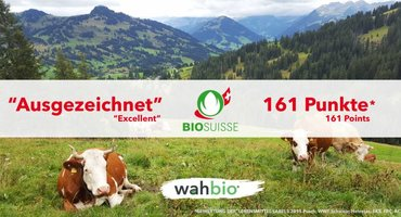 """Wusstest du, dass das Milch Protein in unserem Eiweißpulver auch """"Knospe Bio Suisse zertifiziert"""" ist?"""