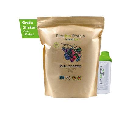 Elite bio Protein by wahbio | Waldbeere | 2000 Gr