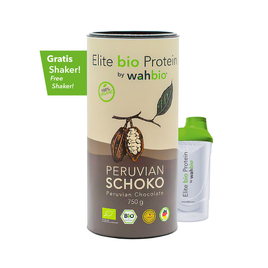 Elite Organic Protein by wahbio | Peruvian Chocolate | 750 Gr
