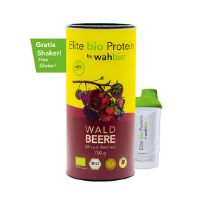 Elite Organic Protein by wahbio | Mixed Berries | 750 Gr