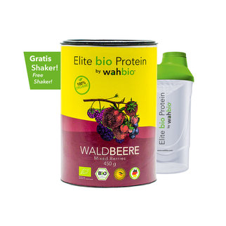 Elite Organic Protein by wahbio | Mixed Berries 450 Gr