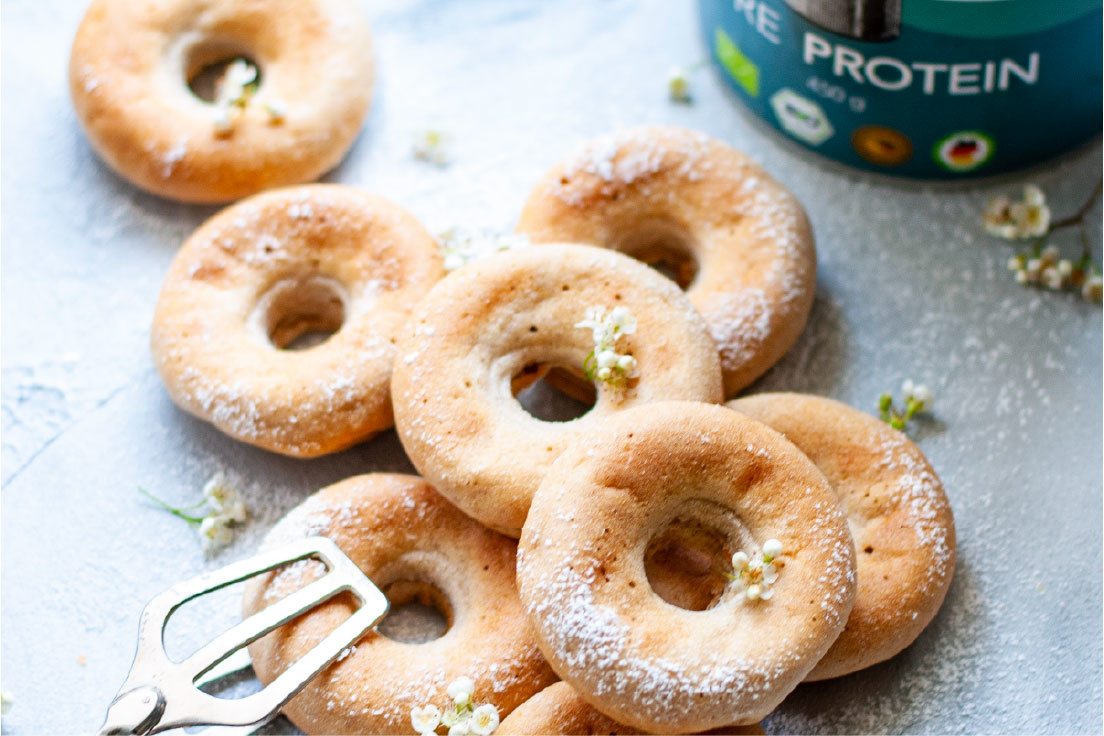Organic high-protein donuts