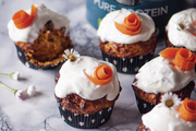 Low-carb organic carrot muffins