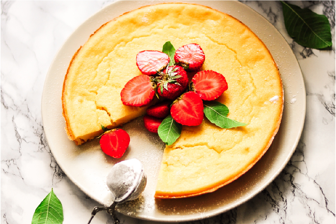 High-protein organic cheesecake