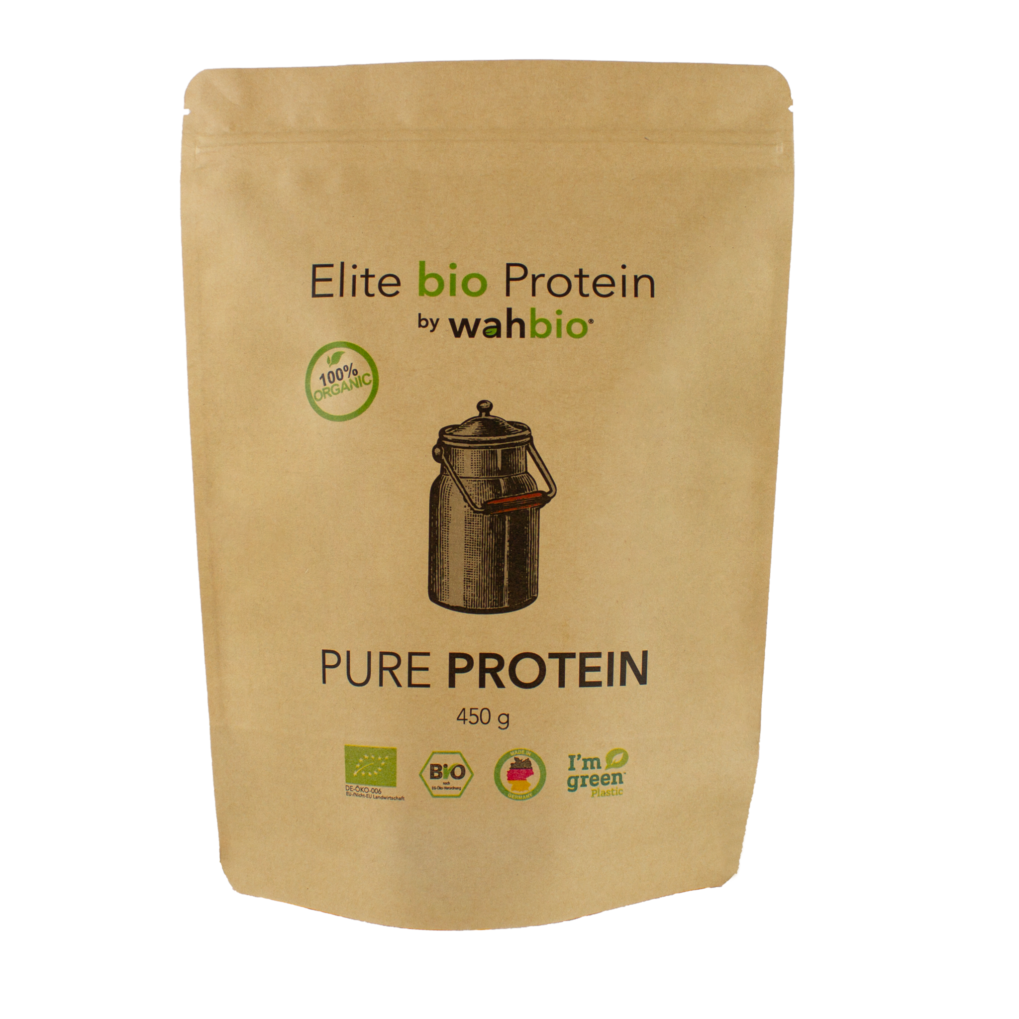 Elite Organic Protein by wahbio | PUR Protein | 450 Gr