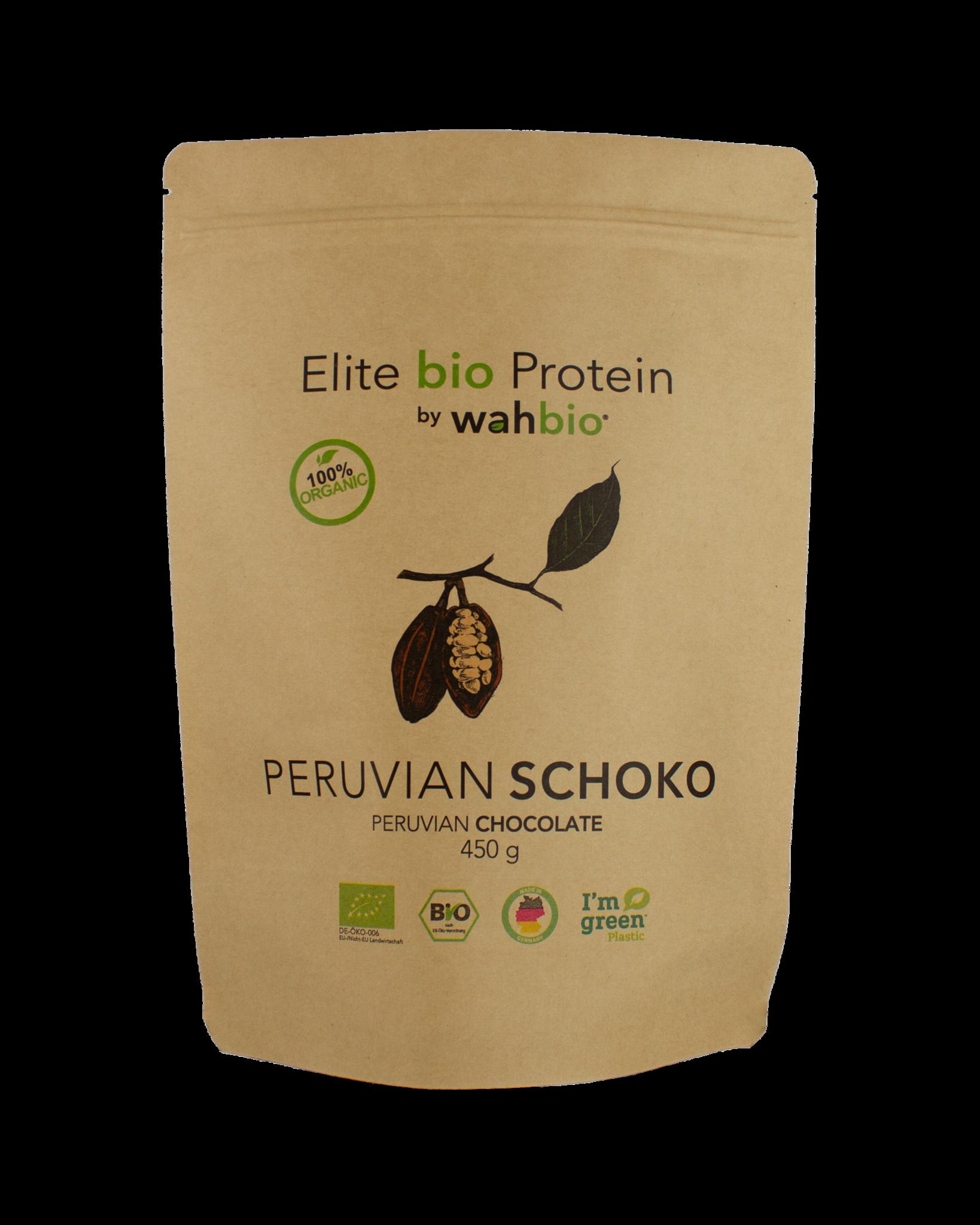 Elite bio Protein by wahbio | Peruvian Schoko | 450 Gr - Copy