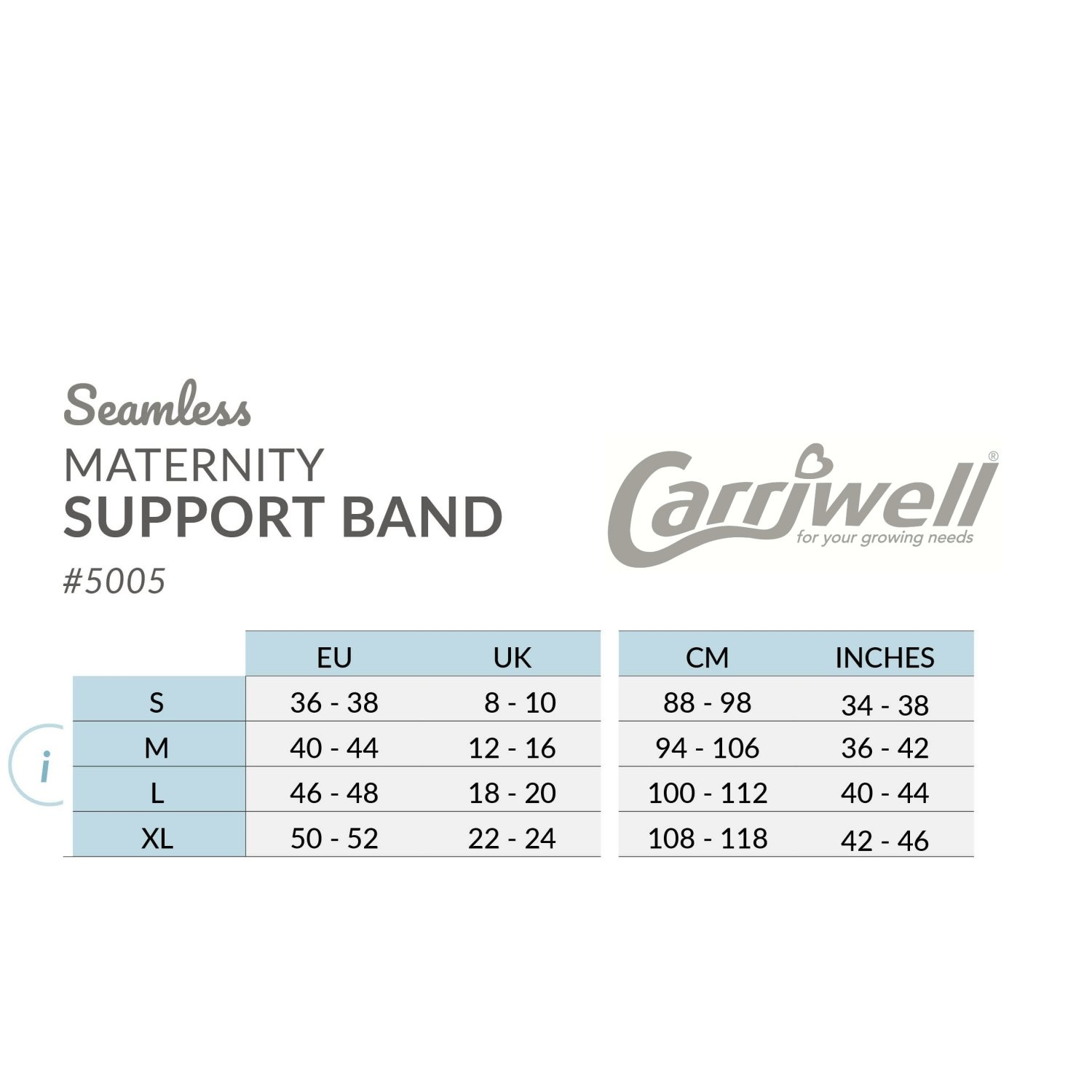 Carriwell Carriwell Naadloze Buikband Support - Wit