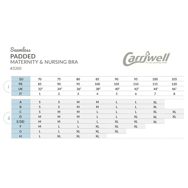 Carriwell Carriwell Meegroei- & Voedingsbh Padded - Zwart