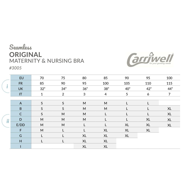 Carriwell Carriwell Meegroei- & Voedingsbh Original - Zwart