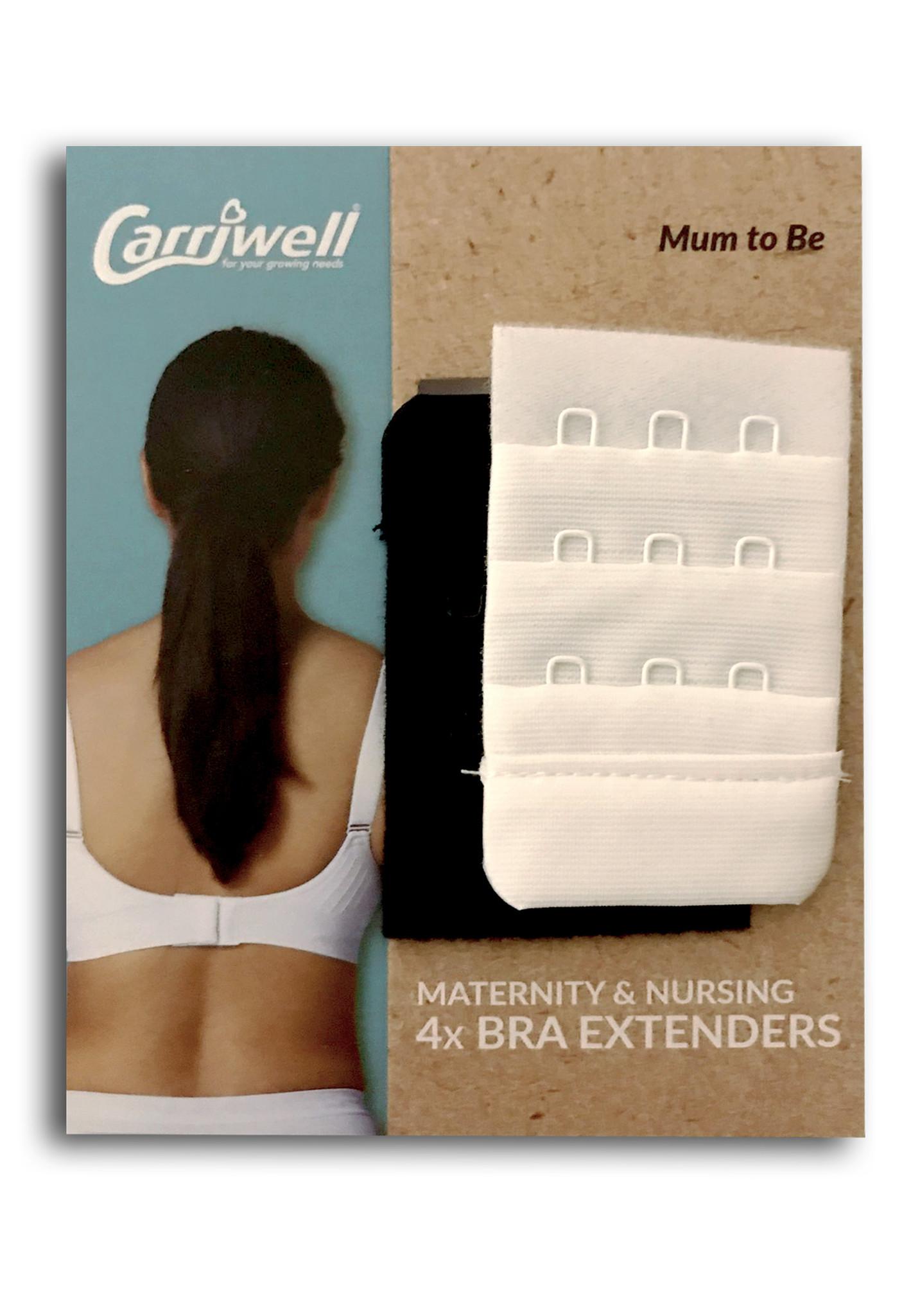 Carriwell BH verlenger  2 wit / 2 zwart