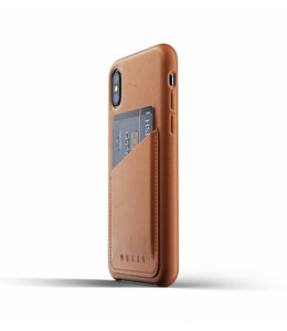 MUJJO Leather Wallet Case for iPhone Xs - Tan