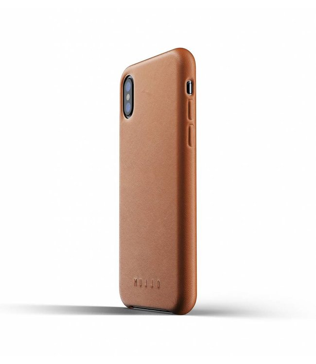 MUJJO Leather Case for iPhone Xs - Tan