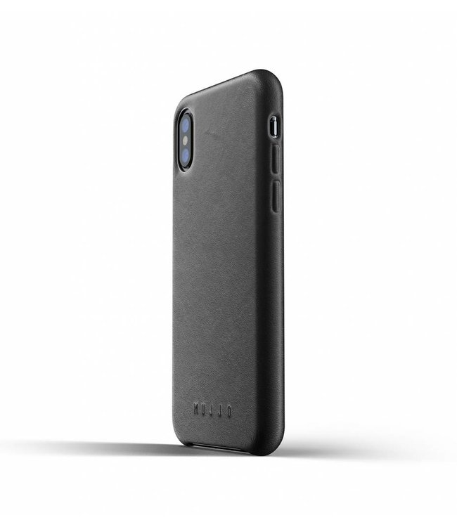 MUJJO Leather Case for iPhone Xs - Black