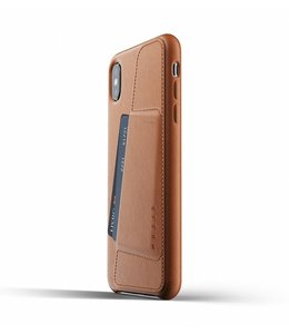 MUJJO Leather Wallet Case for iPhone Xs Max - Tan
