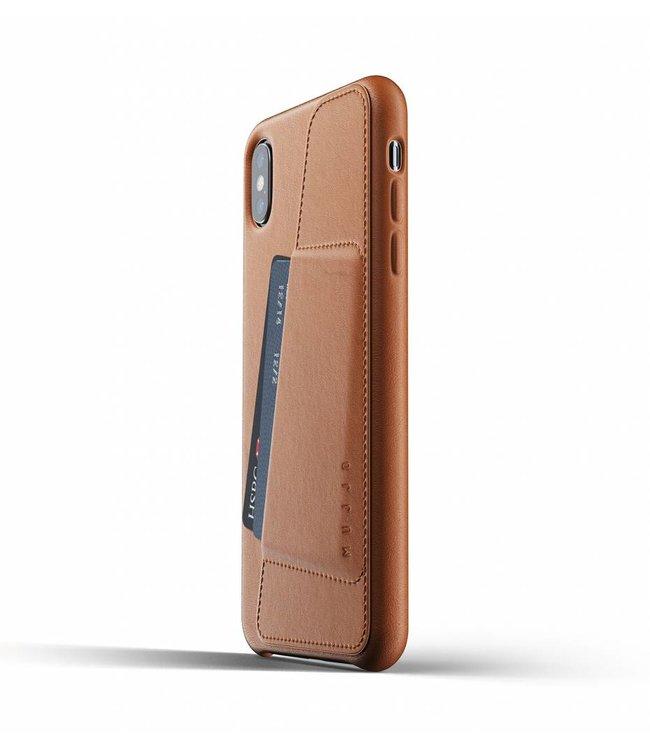 MUJJO Leder Wallet Case für iPhone Xs Max - Tan