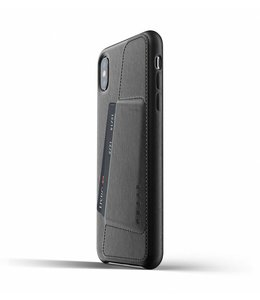 MUJJO Leather Wallet Case for iPhone Xs Max - Black