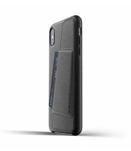MUJJO Leder Wallet Case für iPhone Xs Max - Black