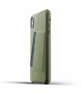 MUJJO Leder Wallet Case für iPhone Xs Max - Olive