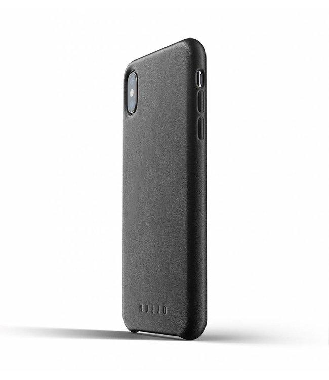 MUJJO Leder Hülle für iPhone Xs Max - Black