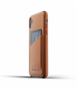 MUJJO Leder Wallet Case für iPhone Xr - Tan