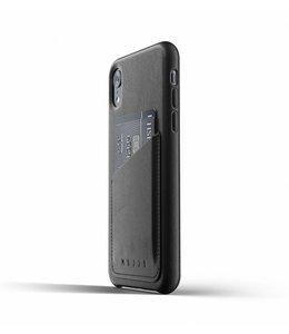 MUJJO Leder Wallet Case für iPhone Xr - Black