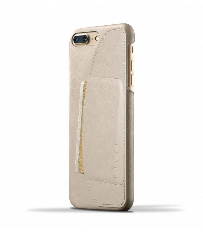 MUJJO Leder Wallet Case für iPhone 8/7 Plus - Champagne