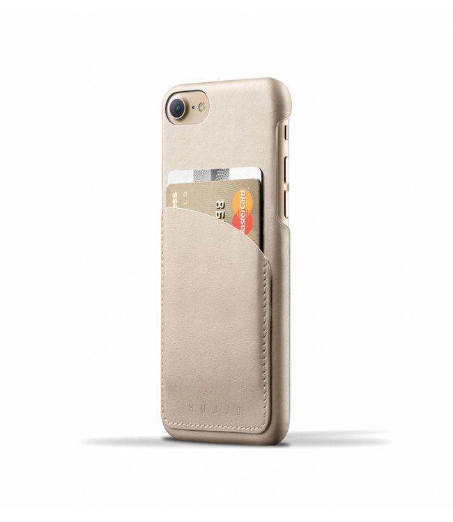 MUJJO Leather Wallet Case for iPhone 8/7 - Champagne