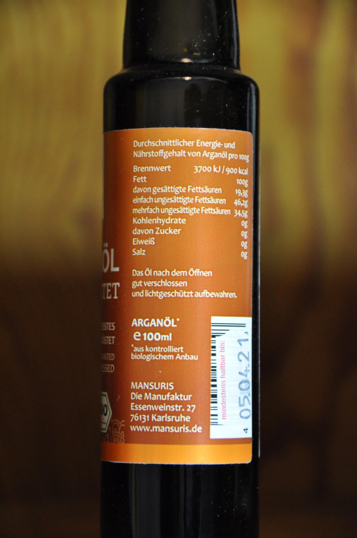 Mansuris Mansuris Bio Arganöl handgepresst 100 ml ungeröstet