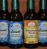Kraichgauer Ölmühle Spar-Set 5 für 4 aus 5 Flaschen Leinöl + 1 Flasche Sonnenblumenkernöl