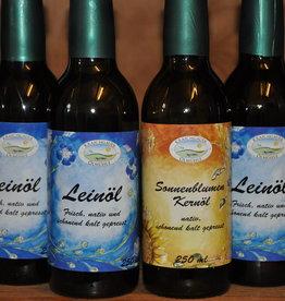Kraichgauer Ölmühle Spar-Set 5 Fl.  Leinöl + 1 Fl. Sonnenblumenkernöl