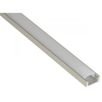 Aluminium Led Strip Profiel compleet voor 8/10/12mm led strips, Lengte:  1 meter