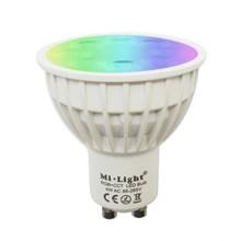 Mi-Light GU10 4w RGB + CCT, Wifi/RF, 270 Lumen, 2 Jaar Garantie