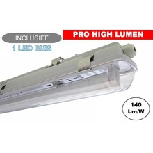 Complete LED TL Armatuur 120cm 20W, ±3000LM (Pro High Lumen), IP65, Incl. 1x led buis, 3 Jaar garantie