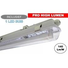 Komplette LED Leuchtstofflampe 150cm 24W, ±3300LM (Pro High Lumen), IP65, inkl. 1x LED Röhre, 3 Jahre Garantie