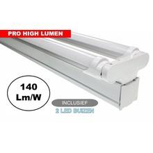 Complete LED TL Montagebalk 120cm, 40W, ±6000LM (Pro High Lumen), IP20, Incl. 2x led buis, 3 Jaar garantie