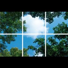 Fotodruckbild Wolken und Wälder 180x120cm für 6x 60x60cm Led-Paneel