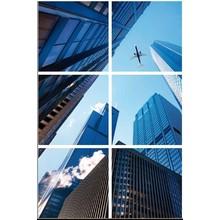 Fotodruckbild Wolkenkratzer 180x120cm für 6x 60x60cm Led-Paneel