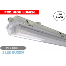 Komplette LED Leuchtstofflampe 150cm 48W, ±6600LM (Pro High Lumen), IP65, inkl. 2x LED Röhre, 3 Jahre Garantie