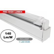 Complete LED TL Montagebalk 120cm, 20W, ±3000LM (Pro High Lumen), IP20, Incl. 1x led buis, 3 Jaar garantie