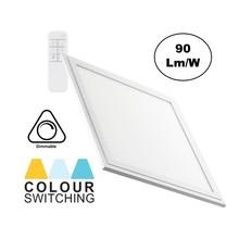 LED-Panel 30x30cm, 24w, 2000 Lumen, CCT-Farbsteuerung (3000K-6000K), dimmbar, weißer Rahmen, 3 Jahre Garantie