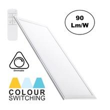 LED-Panel 30x60cm, 32W, 2700 Lumen, CCT-Farbsteuerung (3000K-6000K), dimmbar, weißer Rahmen, 3 Jahre Garantie