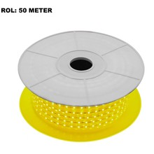 LED Lichtslang Geel, Rol: 50 Meter, 10w/m, 60 leds/m, 580lm/m, IP65, 230V, 2 Jaar Garantie