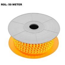 LED Lichtslang Oranje, Rol: 50 Meter, 10w/m, 60 leds/m, 600lm/m, IP65, 230V, 2 Jaar Garantie